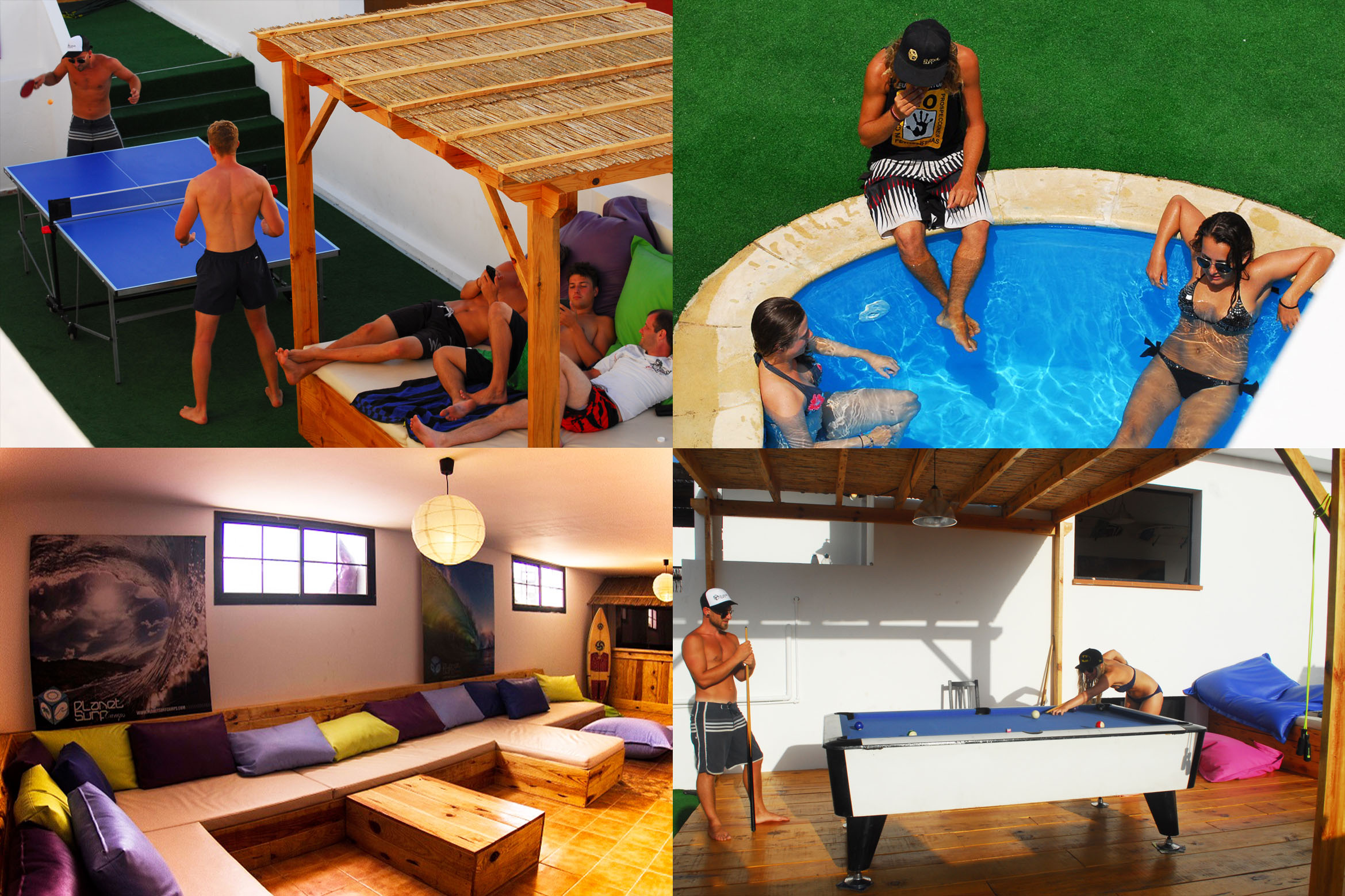 4 Surf-Haus-Collage