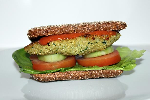 Bärlauch_Quinoa_Burger