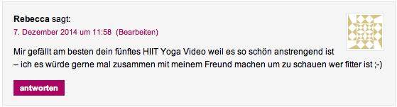 Gewinnerin Yogamatte