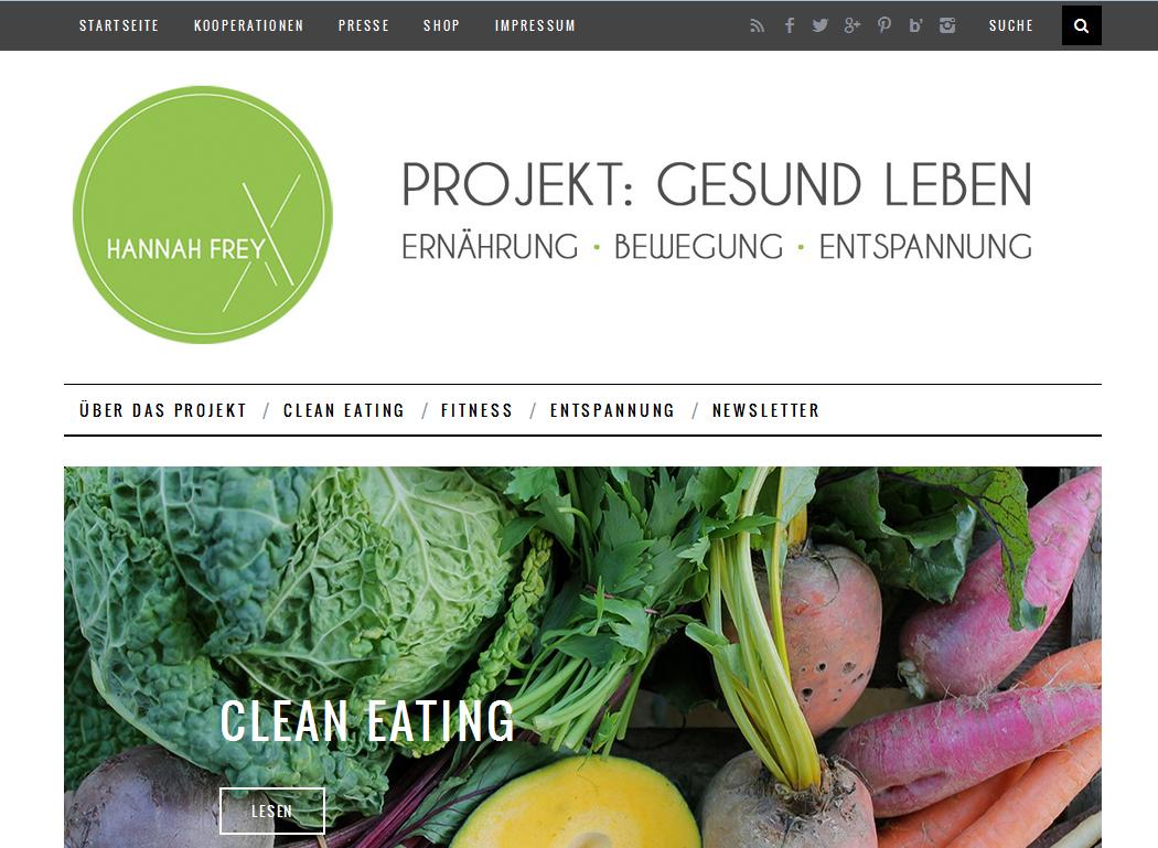 Menü Projekt Gesund leben