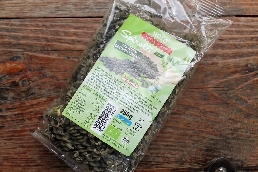 Nudeln aus grünen Linsen1