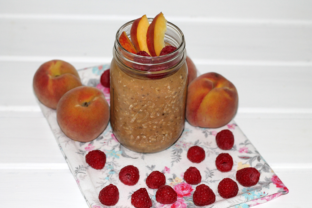 Overnight Oats Pfirsich-Himbeer 2