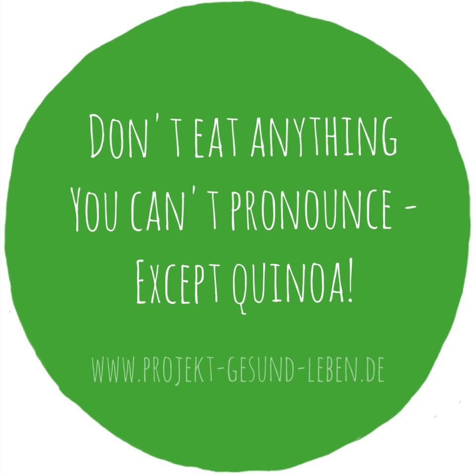 Quinoa Zutatenliste