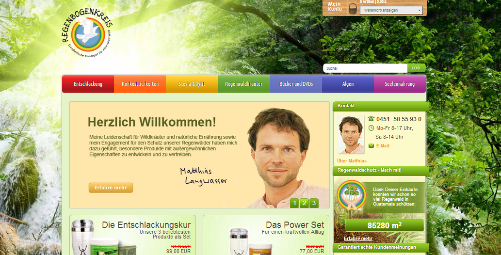 Regenbogenkreis Website