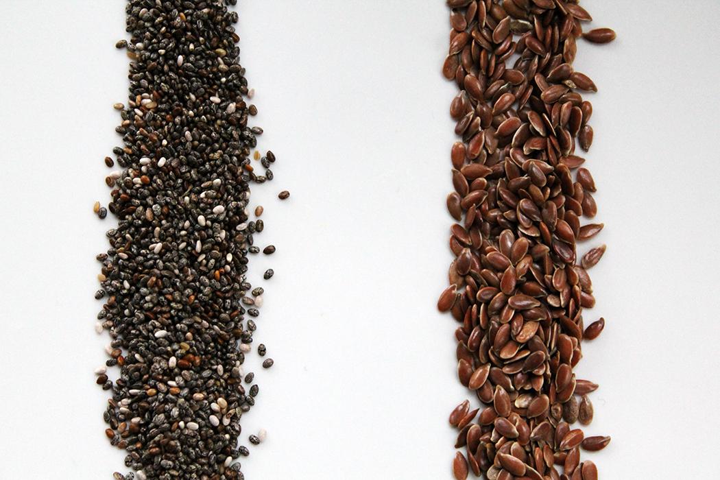Vergleich Chia-Samen Leinsamen