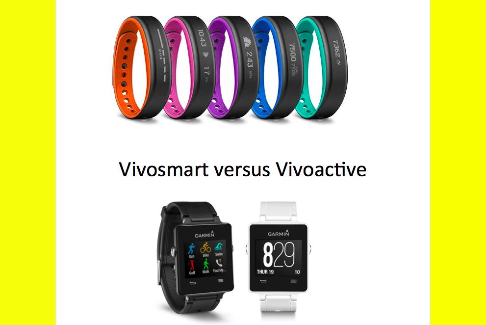 Vivosmart und Vivoactive im Vergleich