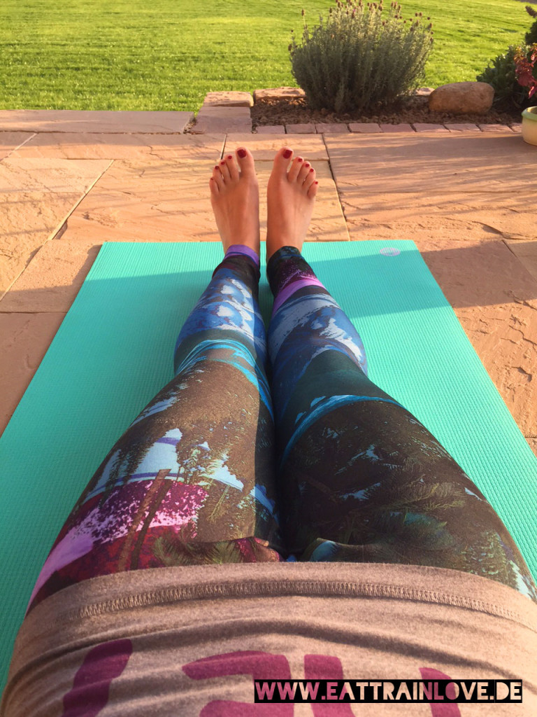 Yoga-Tights-Scenic-Print-von-Reebok