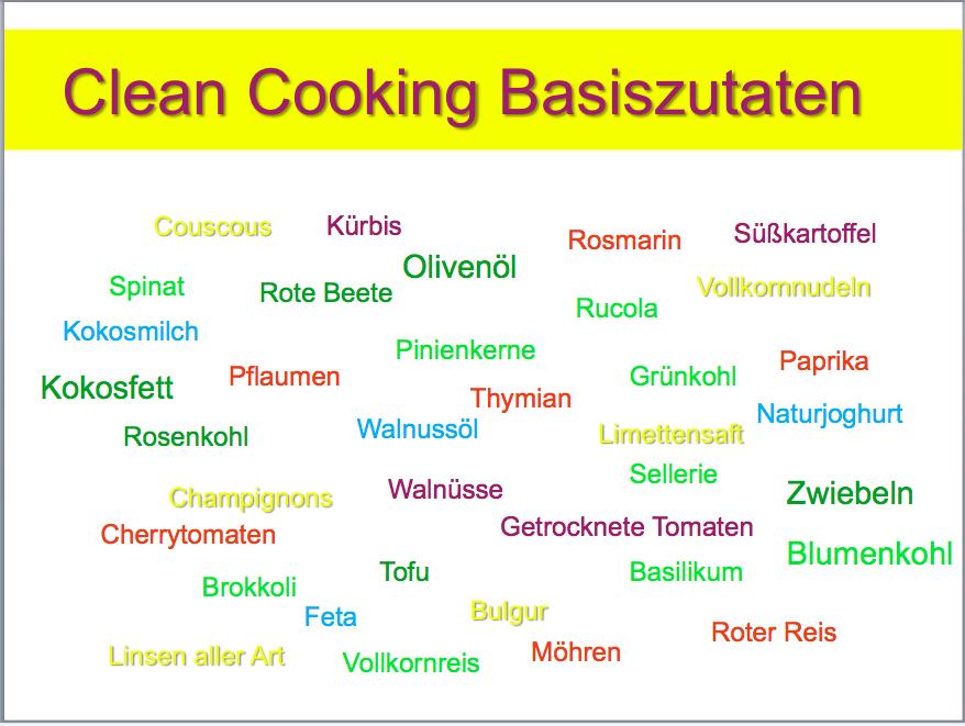 Cleanes Kochen Basiszutaten